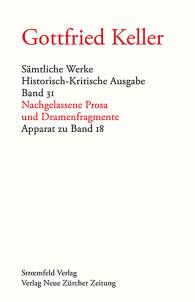 Sämtliche Werke. Historisch-Kritische Ausgabe / Nachgelassene Prosa und Dramenfragmente - Apparat zu