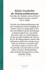 Kleine Geschichte des Rahmenabkommens