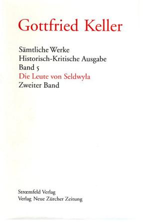 Sämtliche Werke. Historisch-Kritische Ausgabe, Band 5