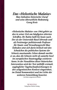Helvetisches Malaise von Max Imboden