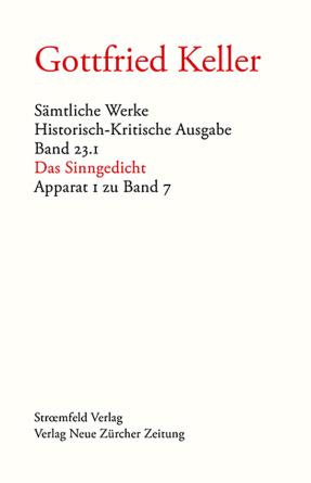 Sämtliche Werke. Historisch-Kritische Ausgabe, Band 23.1